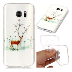 Branches Elk Super Clear Soft TPU Back Cover for Samsung Galaxy S7 G930