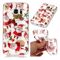 Santa Claus Super Clear Soft TPU Back Cover for Samsung Galaxy S7 G930