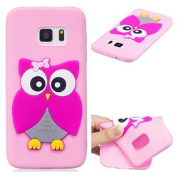 Pink Owl Soft 3D Silicone Case for Samsung Galaxy S7 G930