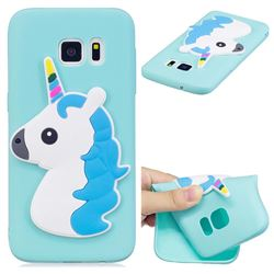 Blue Hair Unicorn Soft 3D Silicone Case for Samsung Galaxy S7 G930