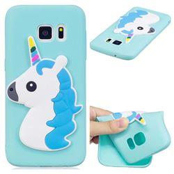 Blue Hair Unicorn Soft 3D Silicone Case for Samsung Galaxy S7 G930