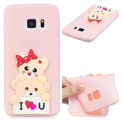 Love Bear Soft 3D Silicone Case for Samsung Galaxy S7 G930