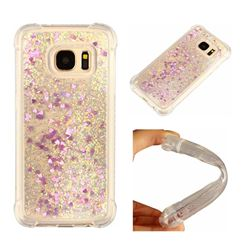 Dynamic Liquid Glitter Sand Quicksand Star TPU Case for Samsung Galaxy S7 G930 - Rose