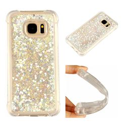 Dynamic Liquid Glitter Sand Quicksand Star TPU Case for Samsung Galaxy S7 G930 - Silver