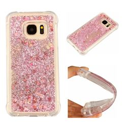 Dynamic Liquid Glitter Sand Quicksand Star TPU Case for Samsung Galaxy S7 G930 - Diamond Rose
