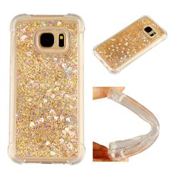 Dynamic Liquid Glitter Sand Quicksand Star TPU Case for Samsung Galaxy S7 G930 - Diamond Gold