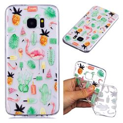 Cactus Flamingos Super Clear Soft TPU Back Cover for Samsung Galaxy S7 G930