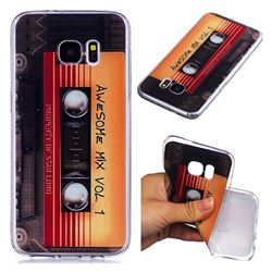 Retro Cassette Tape Super Clear Soft TPU Back Cover for Samsung Galaxy S7 G930