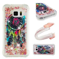 Seal Wind Chimes Dynamic Liquid Glitter Sand Quicksand Star TPU Case for Samsung Galaxy S7 G930