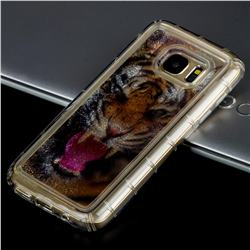 Tiger Glassy Glitter Quicksand Dynamic Liquid Soft Phone Case for Samsung Galaxy S7 G930