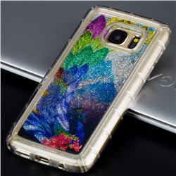 Phoenix Glassy Glitter Quicksand Dynamic Liquid Soft Phone Case for Samsung Galaxy S7 G930