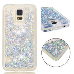 Dynamic Liquid Glitter Quicksand Sequins TPU Phone Case for Samsung Galaxy S7 G930 - Silver