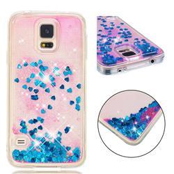 Dynamic Liquid Glitter Quicksand Sequins TPU Phone Case for Samsung Galaxy S7 G930 - Blue