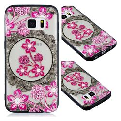 Daffodil Lace Diamond Flower Soft TPU Back Cover for Samsung Galaxy S7 G930