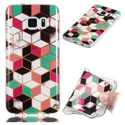 Three-dimensional Square Soft TPU Marble Pattern Phone Case for Samsung Galaxy S7 G930