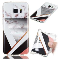 Pinstripe Soft TPU Marble Pattern Phone Case for Samsung Galaxy S7 G930