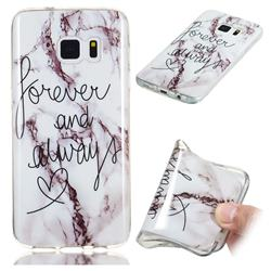 Forever Soft TPU Marble Pattern Phone Case for Samsung Galaxy S7 G930
