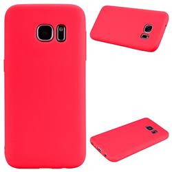 Candy Soft Silicone Protective Phone Case for Samsung Galaxy S7 G930 - Red