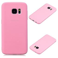 Candy Soft Silicone Protective Phone Case for Samsung Galaxy S7 G930 - Dark Pink