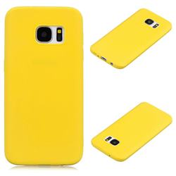 Candy Soft Silicone Protective Phone Case for Samsung Galaxy S7 G930 - Yellow
