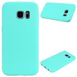 Candy Soft Silicone Protective Phone Case for Samsung Galaxy S7 G930 - Light Blue