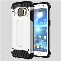 King Kong Armor Premium Shockproof Dual Layer Rugged Hard Cover for Samsung Galaxy S7 G930 - White