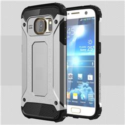King Kong Armor Premium Shockproof Dual Layer Rugged Hard Cover for Samsung Galaxy S7 G930 - Technology Silver