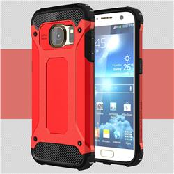 King Kong Armor Premium Shockproof Dual Layer Rugged Hard Cover for Samsung Galaxy S7 G930 - Big Red