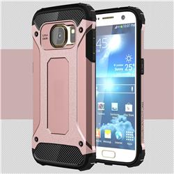 King Kong Armor Premium Shockproof Dual Layer Rugged Hard Cover for Samsung Galaxy S7 G930 - Rose Gold