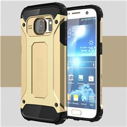 King Kong Armor Premium Shockproof Dual Layer Rugged Hard Cover for Samsung Galaxy S7 G930 - Champagne Gold