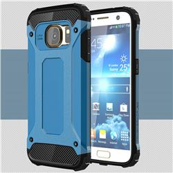 King Kong Armor Premium Shockproof Dual Layer Rugged Hard Cover for Samsung Galaxy S7 G930 - Sky Blue