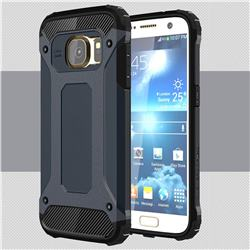 King Kong Armor Premium Shockproof Dual Layer Rugged Hard Cover for Samsung Galaxy S7 G930 - Navy