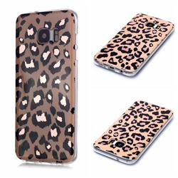 Leopard Galvanized Rose Gold Marble Phone Back Cover for Samsung Galaxy S7 G930