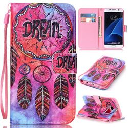 Dream Wind Chimes Leather Wallet Phone Case for Samsung Galaxy S7