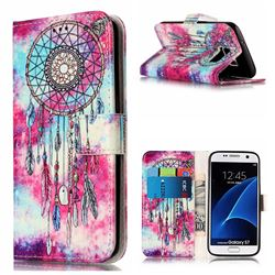 Butterfly Chimes PU Leather Wallet Case for Samsung Galaxy S7 G930