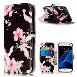 Azalea Flower PU Leather Wallet Case for Samsung Galaxy S7 G930