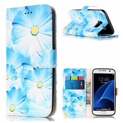 Orchid Flower PU Leather Wallet Case for Samsung Galaxy S7 G930