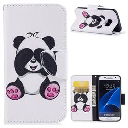 Lovely Panda Leather Wallet Case for Samsung Galaxy S7 G930