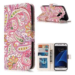Pepper Flowers 3D Relief Oil PU Leather Wallet Case for Samsung Galaxy S7 G930