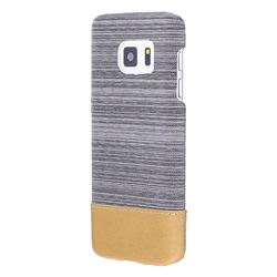 Canvas Cloth Coated Plastic Back Cover for Samsung Galaxy S7 G930 - Light Grey