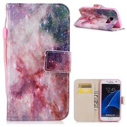 Cosmic Stars PU Leather Wallet Case for Samsung Galaxy S7 G930