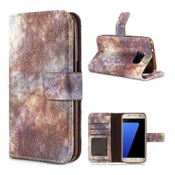 Luxury Retro Forest Series Leather Wallet Case for Samsung Galaxy S7 G930 - White