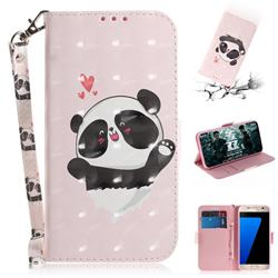 Heart Cat 3D Painted Leather Wallet Phone Case for Samsung Galaxy S7 G930