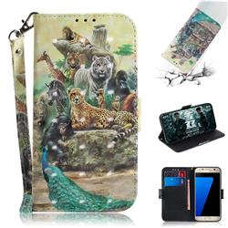 Beast Zoo 3D Painted Leather Wallet Phone Case for Samsung Galaxy S7 G930