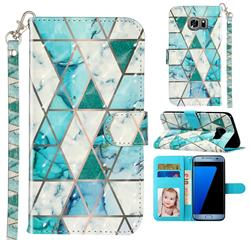 Stitching Marble 3D Leather Phone Holster Wallet Case for Samsung Galaxy S7 G930