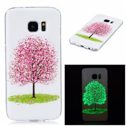 Cherry Tree Noctilucent Soft TPU Back Cover for Samsung Galaxy S7 Edge