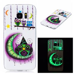 Moon Owls Noctilucent Soft TPU Back Cover for Samsung Galaxy S7 Edge