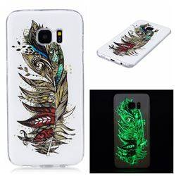 Feather Tribe Noctilucent Soft TPU Back Cover for Samsung Galaxy S7 Edge