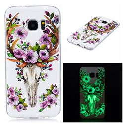 Sika Deer Noctilucent Soft TPU Back Cover for Samsung Galaxy S7 Edge