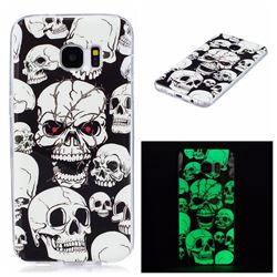 Red-eye Ghost Skull Noctilucent Soft TPU Back Cover for Samsung Galaxy S7 Edge